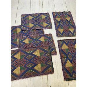 Vintage Lot geometric retro Tapestry Place Mats